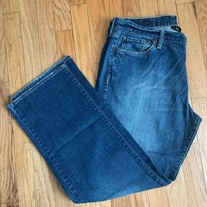 Lucky Brand short inseam vintage straight jeans